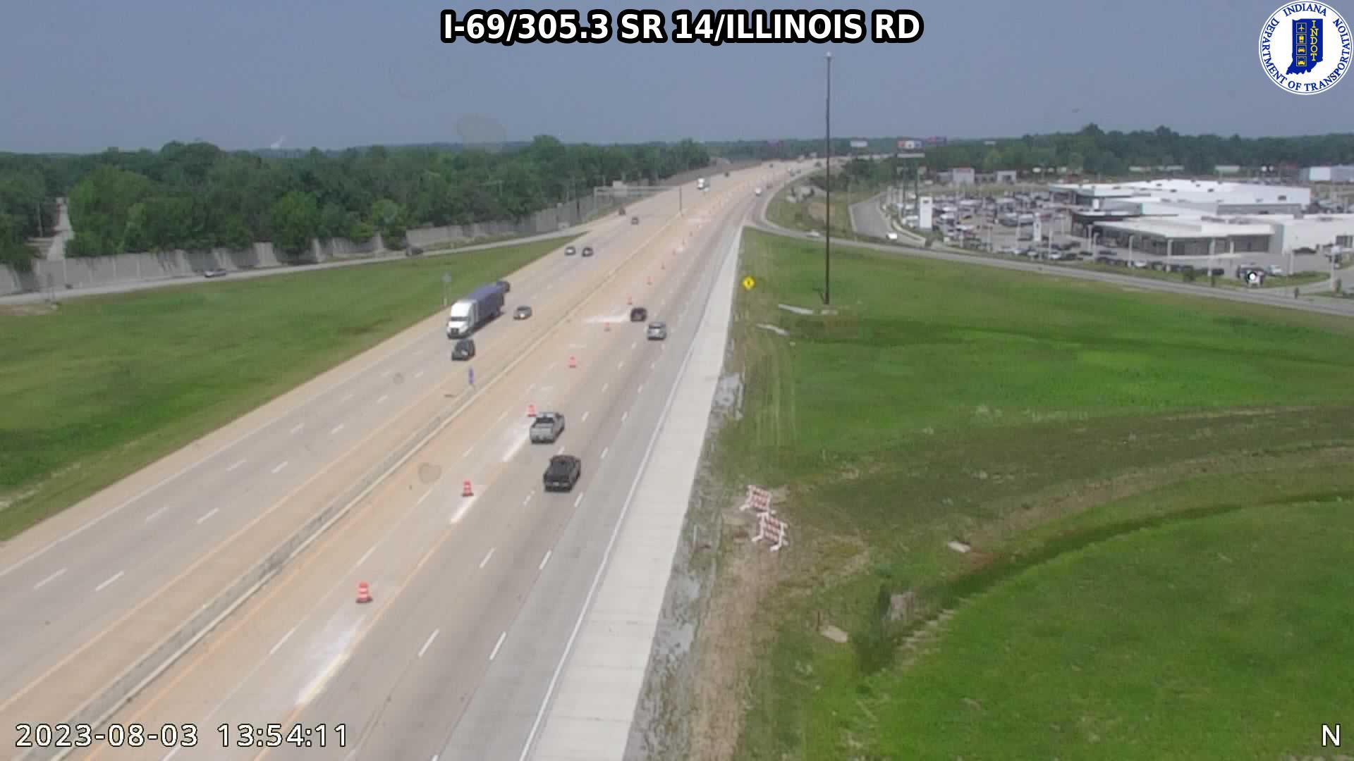 I-69 Exit 305 SR 14/ILLINOIS RD CAM