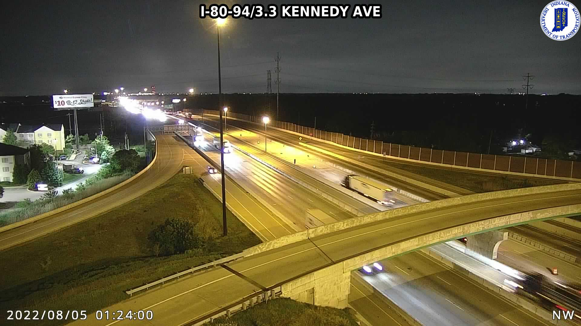 camera snapshot for WB I-80 at Kennedy Ave