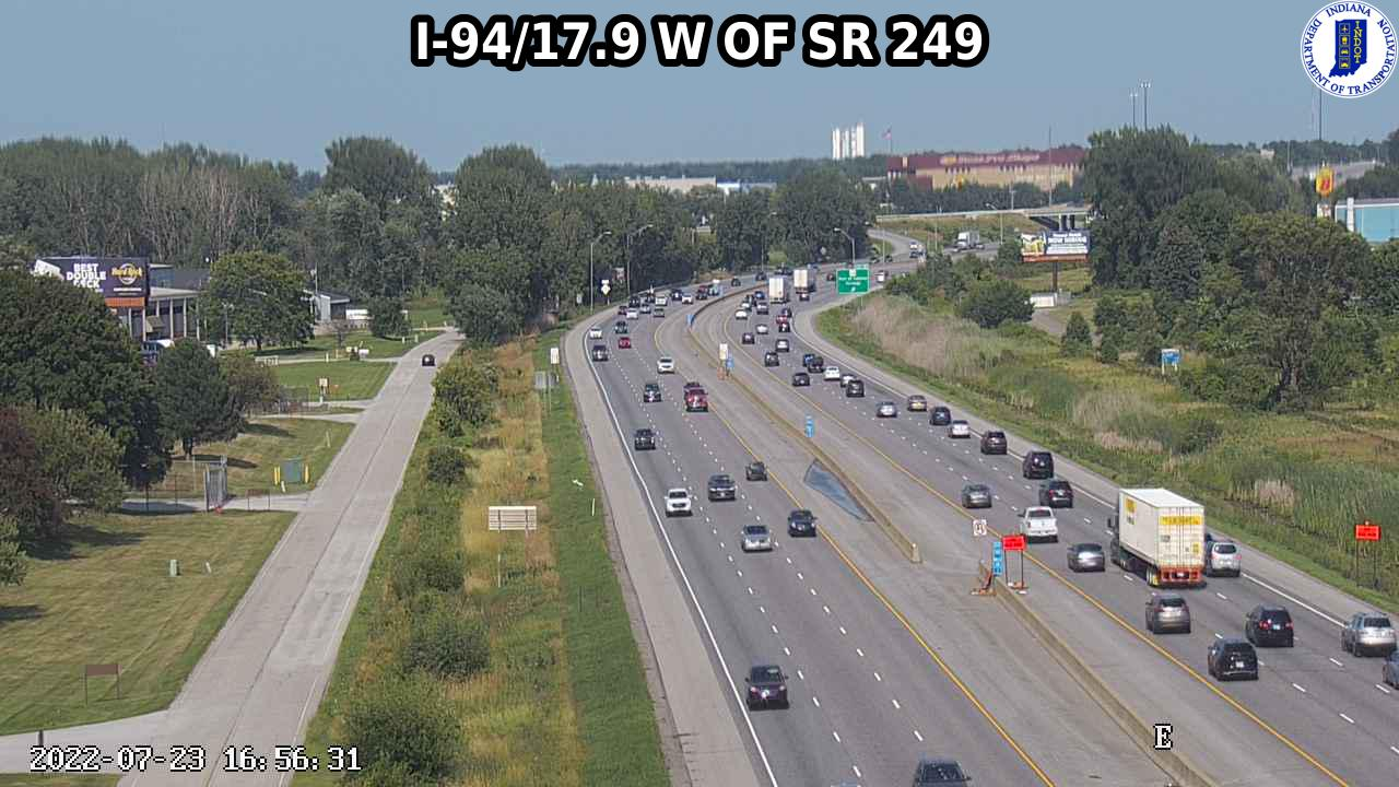 camera snapshot for WB I-94 at IN-249 (+0.8 miles)