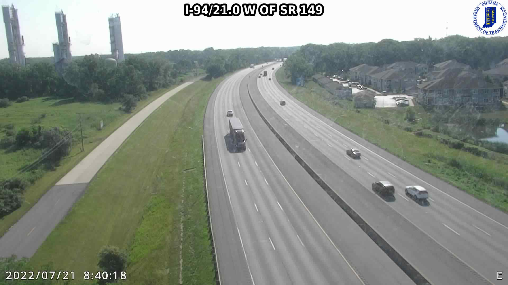 camera snapshot for WB I-94 at IN-149 (+0.3 miles)