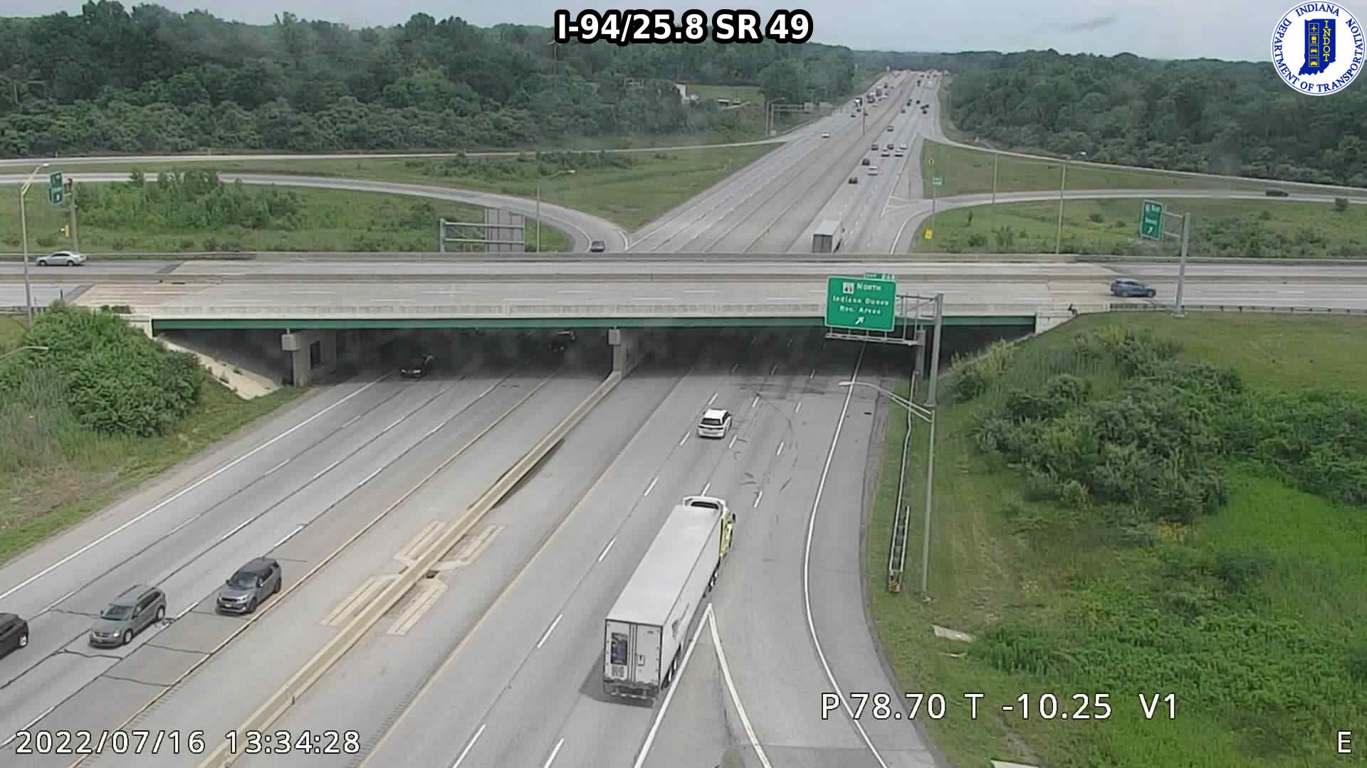 camera snapshot for WB I-94 at IN-49