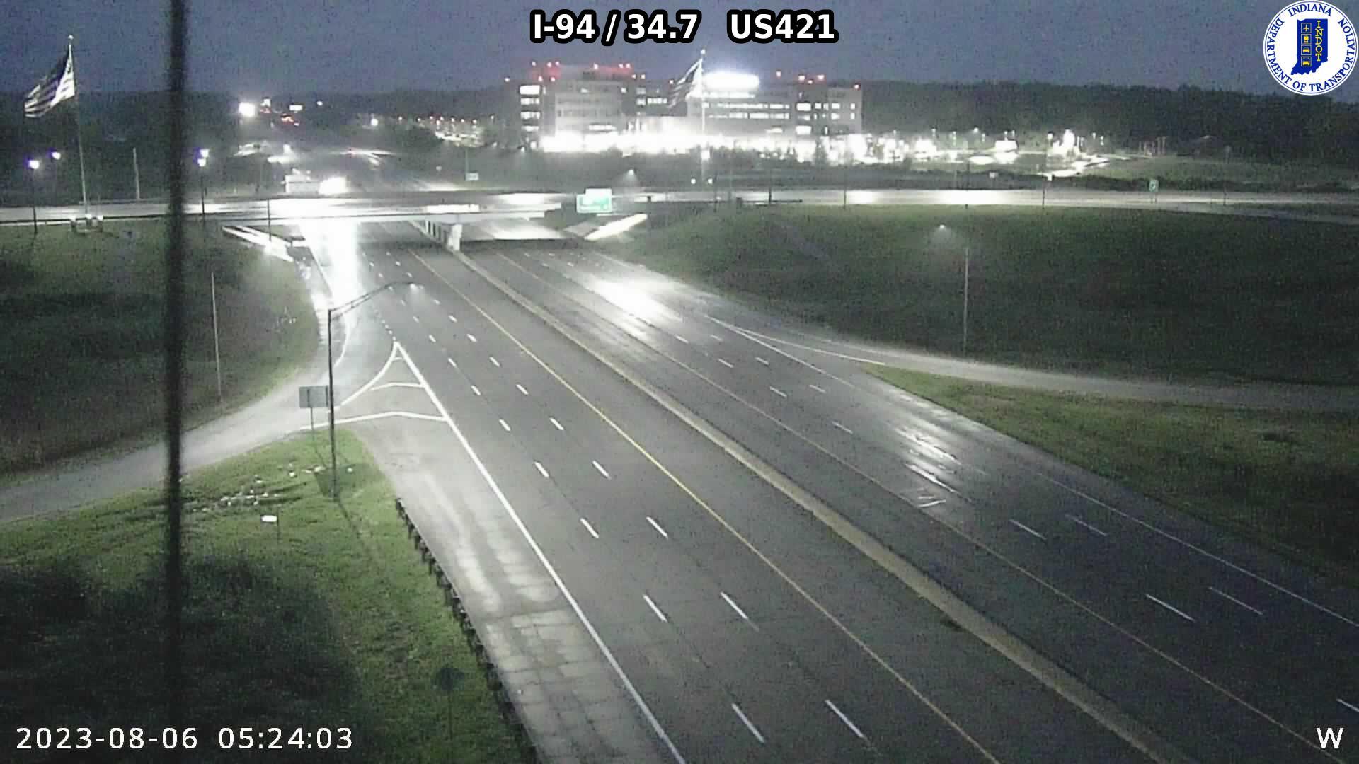 camera snapshot for WB I-94 at US-421 (-0.3 miles)
