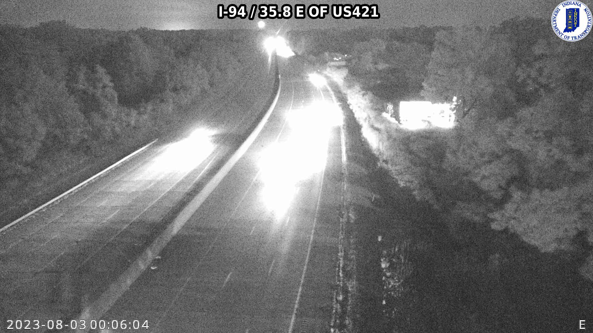 camera snapshot for WB I-94 at County Road 400 N (+0.3 miles)