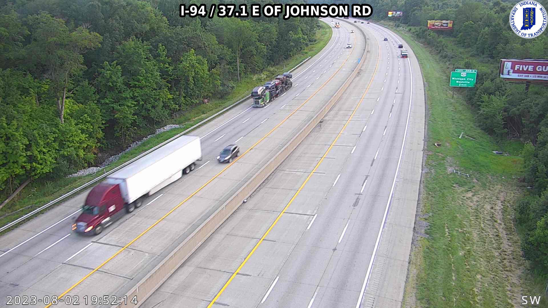 camera snapshot for WB I-94 at Johnson Rd (+0.2 miles)