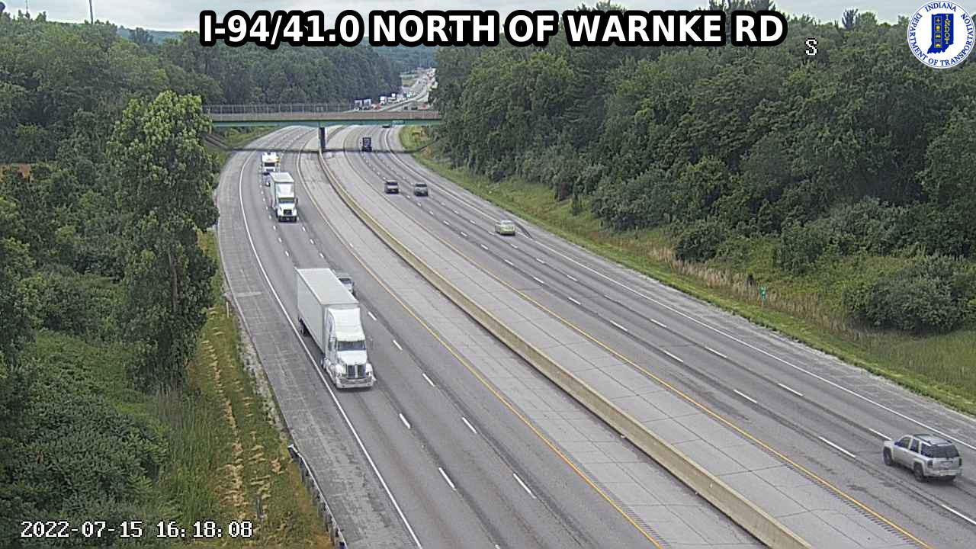 camera snapshot for WB I-94 at Warnke Rd (-0.4 miles)