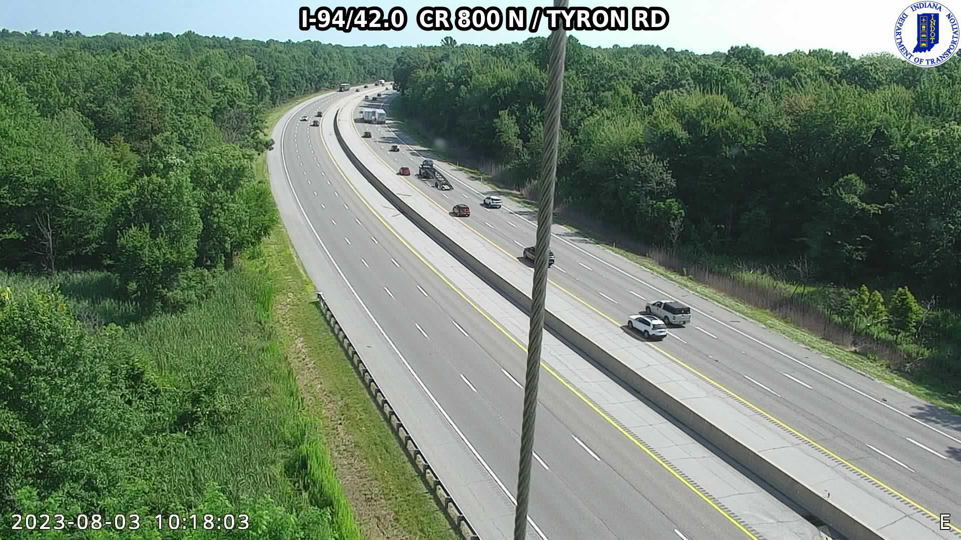 camera snapshot for WB I-94 at County Road 800 N (-0.2 miles)