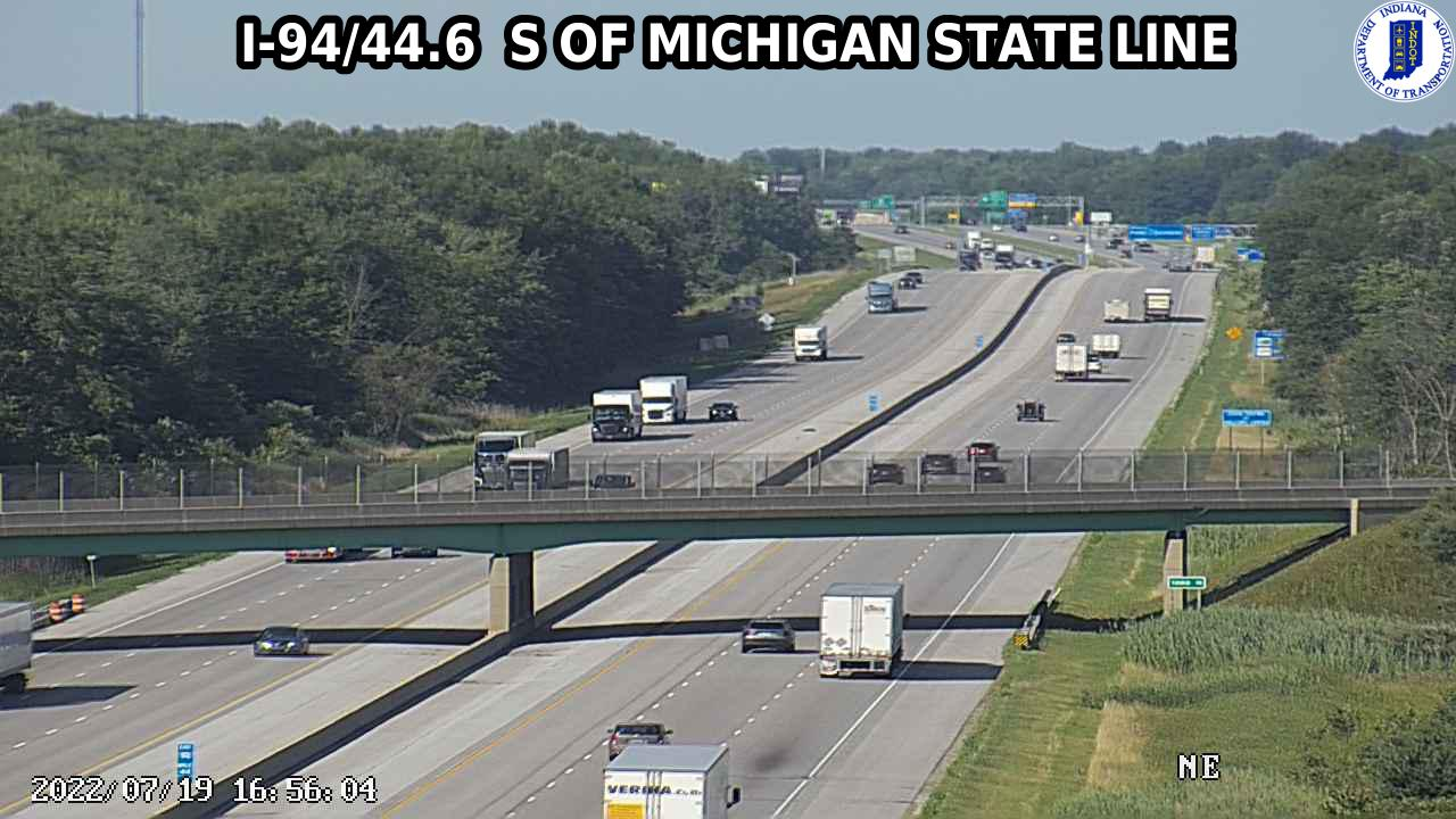 camera snapshot for WB I-94 at County Road 1000 N (+0.1 miles)